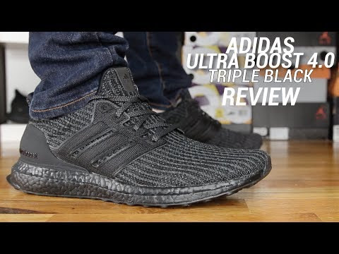 ADIDAS ULTRA BOOST 4.0 TRIPLE BLACK REVIEW
