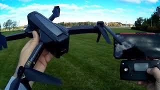 MJX Bugs 12 EIS Folding 4K Electronic Image Stabilized Drone Flight Test Review