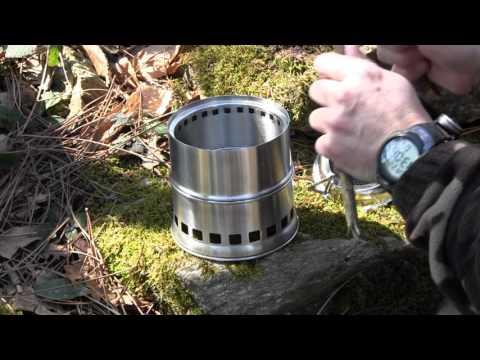 Fornellino stufa pirolitica a legna, pallet  esbit e alcool x survival outdoor bushcraft