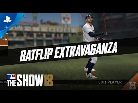 MLB The Show 18 - Feature Talk: Bat Flips | PS4 thumbnail