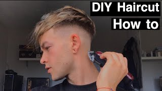 DIY Haircut At Home How To Cut Your Own Hair 2020 Easy Tutorial For Beginners How To Do A Skin Fade
