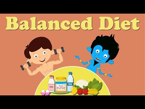 Balanced Diet | #aumsum #kids #education #balance #diet