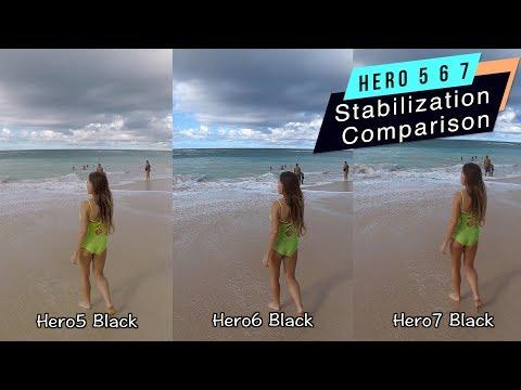 GoPro Hero7 Hero6 Hero5 Stabilization Comparison - GoPro Tip #627   MicBergsma