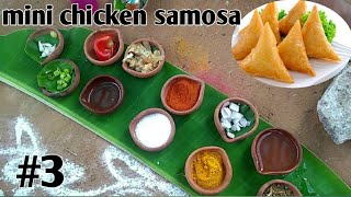 miniature simple chicken samosa |Chicken samosa recipe| mini food craft|MFC#EP3