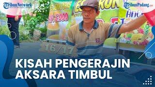 Sudah Keliling Indonesia, Begini Kisah Pengrajin Aksara Timbul Jati Belanda