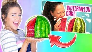I Tried Following A Youtube Tutorial Watermelon Cake Disaster FAIL