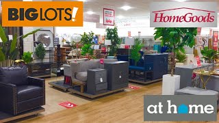 BIG LOTS HOMEGOODS AT HOME FURNITURE ARMCHAIRS TABLES SOFAS SHOP WITH ME SHOPPING STORE WALK THROUGH