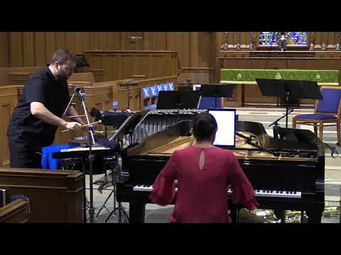 """Hypercube performance at the Charlotte New Music Festival (2018)  """"Anti-Hero"""" for Piano and Mixed Percussion"""