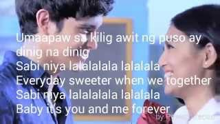 Lyric music mp3 of You & Me forever ft. JaDine
