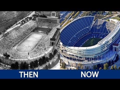NFL Stadiums Then and Now
