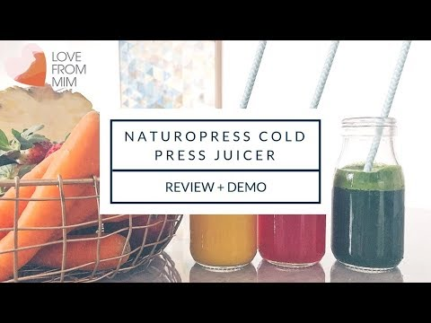 AD   Naturopress Cold Press Juicer Review + Demo   lovefrommim.com