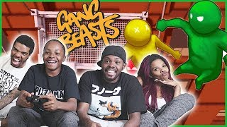 FIGHTING TO THE DEATH HANGING IN THE AIR! EPIC FINISH! - Gang Beasts Gameplay