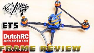 """Ultra Light 5"""" Racer! Racer X fpv ET5 Twig - FRAME REVIEW"""