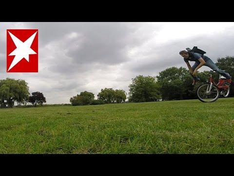 Fahrrad-Airbag Hövding im Test: Wird der Airbag-Helm aufgehen?
