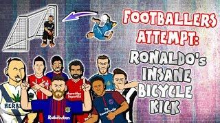 💥FOOTBALLERS ATTEMPT: Ronaldo