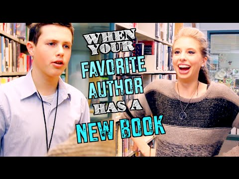 WHEN YOUR FAVORITE AUTHOR HAS A NEW BOOK