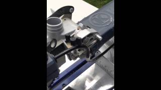 How to unlock the Kobalt 10 inch compound mitre saw