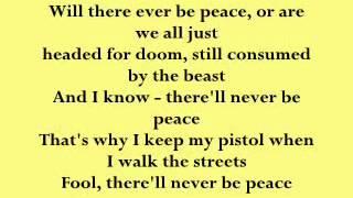 2pac-Never B peace lyrics video