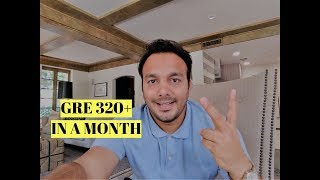 🎯 How to Crack GRE Exam in 30 days  | Week by week study plan to score 320+ | MS IN USA