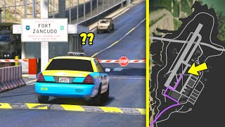 Will a taxi take you inside of Fort Zancudo military base?! (GTA 5 Mods)