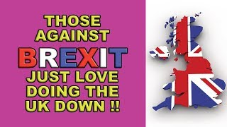 Those against Brexit revel in any  UK weaknesses!