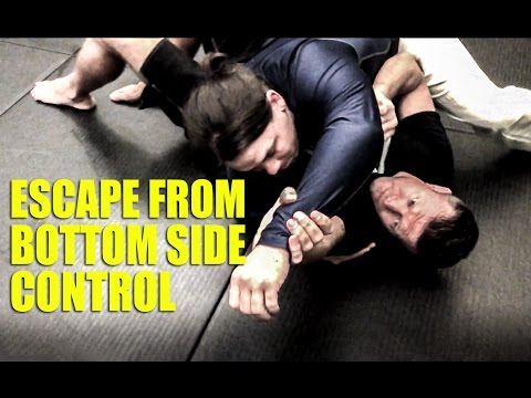 BJJ Technique - Escape from Bottom Side Control