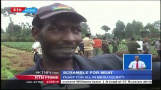 Residents of Mpuri village in Imenti North treated themselves to a rare delicacy of elephant meat