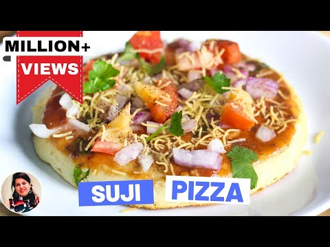 Indian Style Suji Pizza Recipe-Easy Pizza Recipes In Hindi-Breakfast Recipes – Snacks Recipes-Ep-182