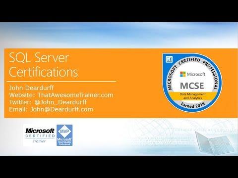 Microsoft SQL Server Certifications 2017 - YouTube