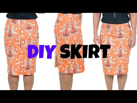 Download DIY Skirt-How To Sew A Skirt* Beginners Sewing Project HD Mp4 3GP Video and MP3