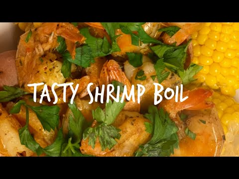 HOW TO DO A FAST DELICIOUS SHRIMP BOIL WITH LOTS OF FLAVOR