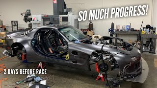 The AWD 4 Rotor gets New Turbo, Body Work, and Wiring before the race! by Rob Dahm