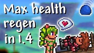 Terraria - 1.4 Maximum health regeneration (full health regeneration in 9 seconds!)