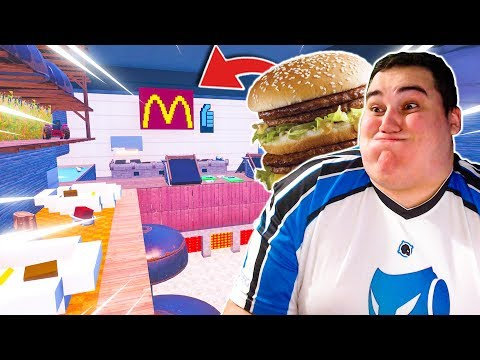 music video cache cache dans un mcdonald s geant sur fortnite creatif - cache cache fortnite creatif