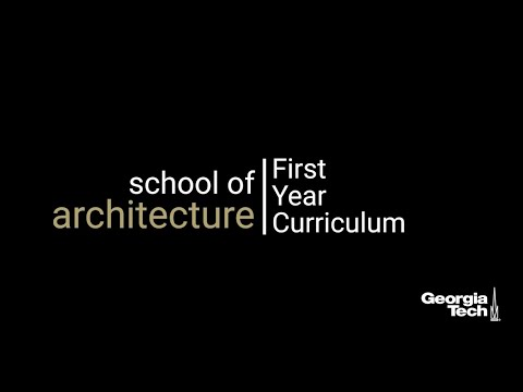 Bachelor of Science in Architecture | First Year Curriculum and Student Resources