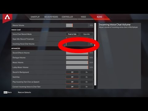 How To Permanently Mute / Disable Voice Chat in Apex Legends
