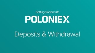 How To Deposit/Withdraw with Crypto Exchange Poloniex