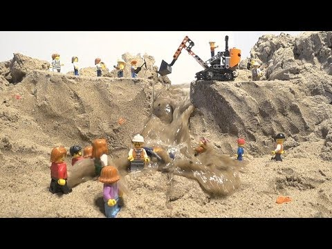 LEGO Dam Breach - LEGO Construction Site Collapse