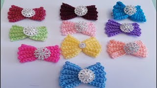 Moño / Lazo A Crochet Super Fácil De Tejer - Tutorial De Ganchillo - Todo En Crochet