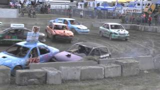 preview picture of video 'Derby de démolition 2014, course de la relève, St-Hyacinthe 25 juillet'