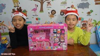 Trò Chơi Bé Tập Nấu Ăn - Bộ Đồ Chơi Nhà Bếp Hiện Đại Hello Kitty Màu Hồng - Bé Minh MN Toys