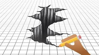 How to Draw 3D - Shape 3D Art