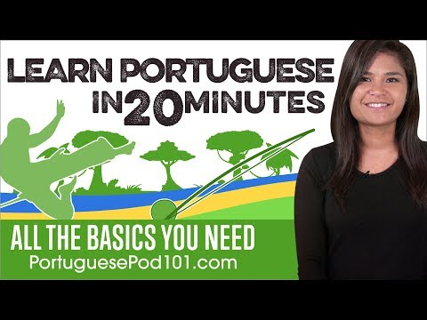 Learn Portuguese in 20 Minutes - ALL the Basics You Need - YouTube