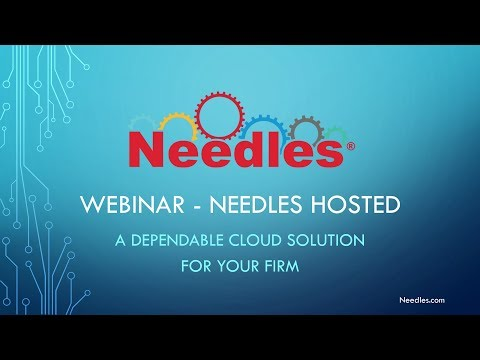Needles Hosted - Previously Recorded Webinar