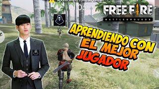 APRENDIENDO CON EL MEJOR JUGADOR DE FREE FIRE *vídeo reacción* SOLO VS SQUAD