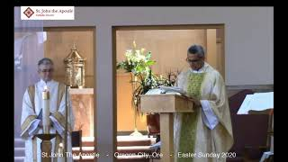 Apr. 12, 2020 - San Juan Apóstol Domingo de Pascua Misa 2020 - Fr. Maxy D'Costa (video)