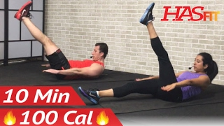 10 Min Lower Ab Workout for Women & Men - 10 Minute Ab Workout - Lower Abs Belly Fat Flattener by HASfit