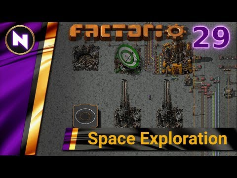 Factorio 0.17 Space Exploration #29 LOGISTICS TRAINS