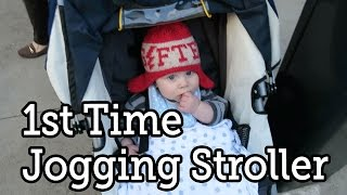 Dad & Baby's First Run With Jogging Stroller in Central Park