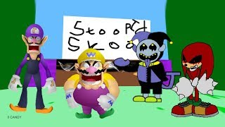 Wario's Stupid School Game (Teddy Bear's Happy School Mod)